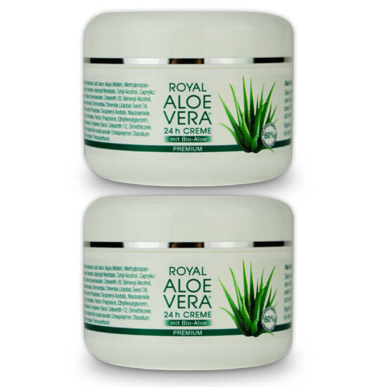 Royal Aloe Vera 24h Gesichtscreme aus Bio Aloe Vera Doppelpack