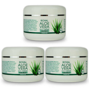 Royal Aloe Vera 24h Gesichtscreme aus Bio Aloe Vera Dreierpack