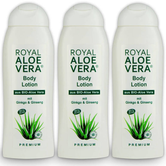 Royal Aloe Vera Body Lotion mit Ginko, Ginseng und Panthenol