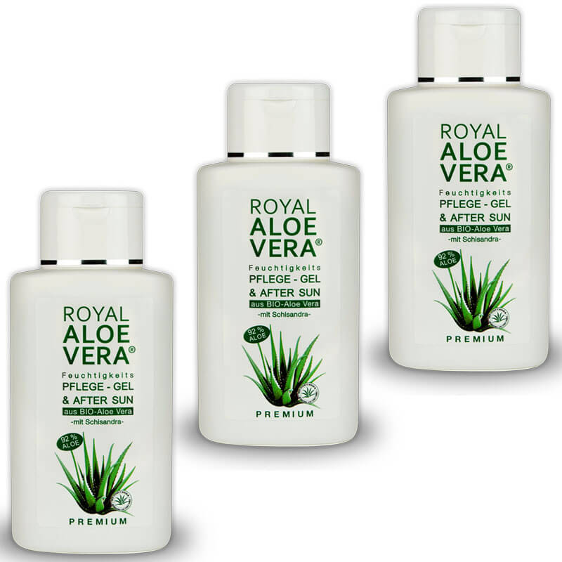 royal aloe vera premium pflege gel mit 92 bio aloe vera und schisandra x 3 royal aloe vera. Black Bedroom Furniture Sets. Home Design Ideas