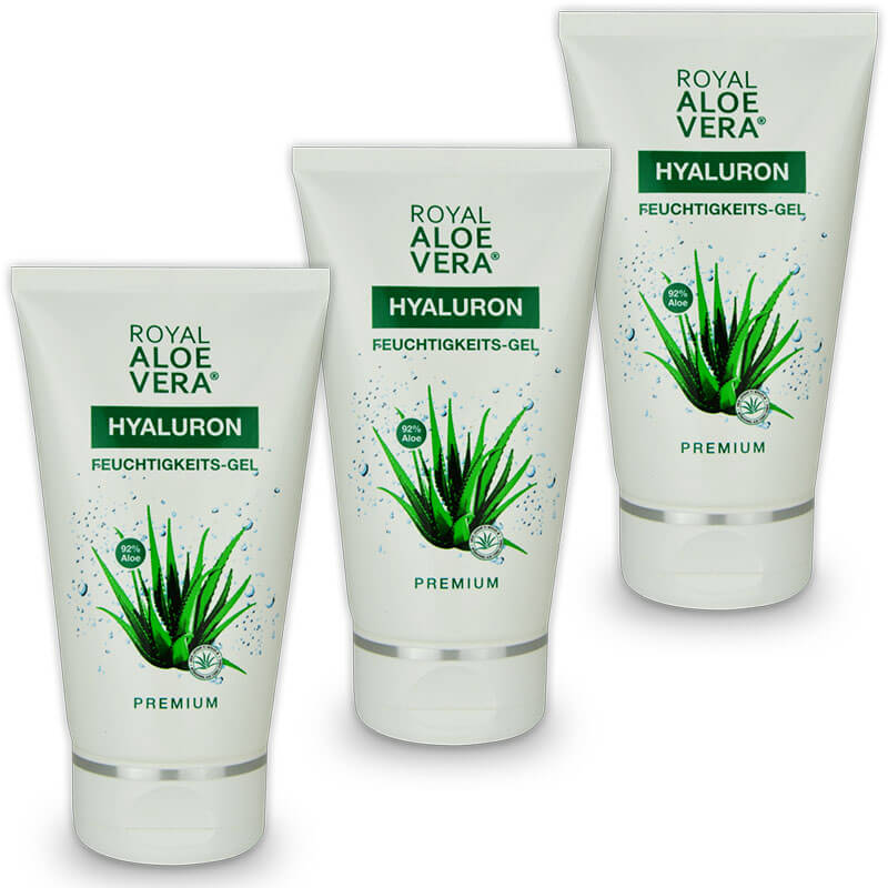 royal aloe vera pflege gel und after sun mit hyaluron x 3. Black Bedroom Furniture Sets. Home Design Ideas
