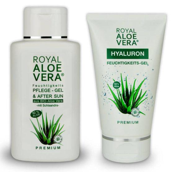 Royal-Aloe-Vera-Hyaluron-Pflege-Gel-und-After-Sun-Schisandra-Set