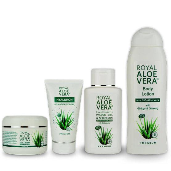 Royal-Aloe-Vera-Produktset-Creme-Gel-Hyaluron-Bodylotion