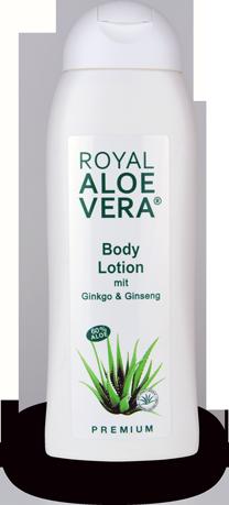 Royal Aloe Vera Body Lotion mit Ginko, Ginseng und Panthenol